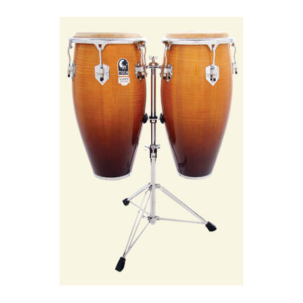 Toca Elite 11 & 11-3/4-Inch  Conga Set With Stand In Natural Fade 3100Nf
