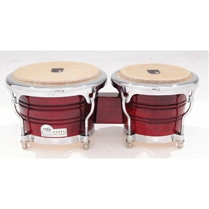 Toca Elite Wood Bongos 7 & 8-1/2-Inch Crimson Fade