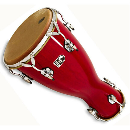 Toca TOC3310 Large Bata Drum Lya in Bright Red Lacquer Finish