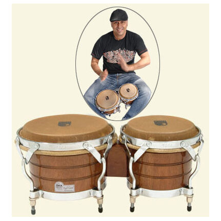 Toca Rafael Padilla Signature Wood Bongos In Dark Teak Gloss Special order only