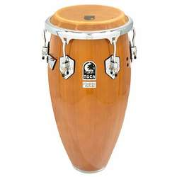 Toca Custom Deluxe Wood Conga 12-1/2-Inch Single Without Stands Antique Maple 461212Am