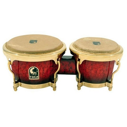 Toca Le Series Wood Bongos 7 & 8-1/2-Inch Bordeaux