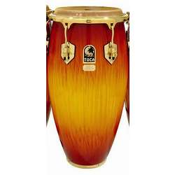 Toca Le Series Wood Conga 12-1/2-Inch (Single Conga Without Stands) In Firestorm