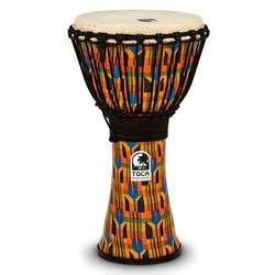 "Toca 10"" Freestyle Djembe Kente Cloth SFDJ10K"