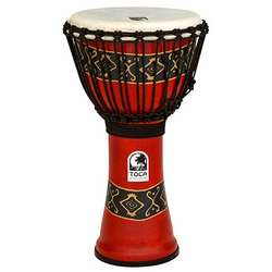 Toca 10-Inch Freestyle Djembe Bali Red Print Hand Drum