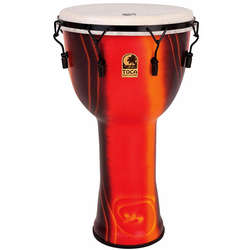 Toca 10-Inch Mechanically Tuned Freestyle Djembe Fiesta Hand Drum