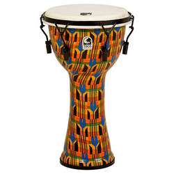 "Toca 10"" Mechanically Tuned Freestyle Djembe Kente Cloth SFDMX10K"