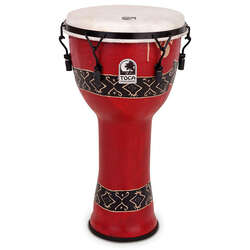 "Toca 10"" Mechanically Tuned Freestyle Djembe Bali Red SFDMX10RP"