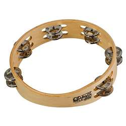 "Toca 10"" Wood Tambourine With Double Row T1010"