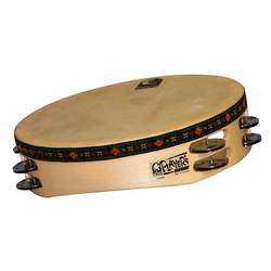 "Toca 10"" Wood Tambourine With Head & Double Row T1010H"