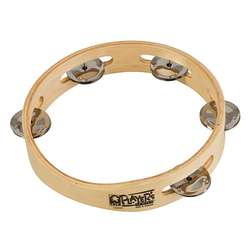 "Toca 7-1/2"" Wood Tambourine With Single Row T1075"