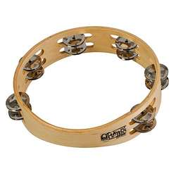 "Toca 9"" Wood Tambourine With Double Row T1090"