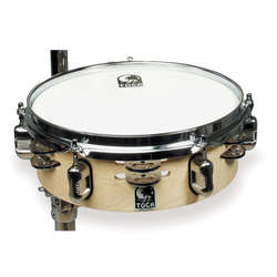 "Toca TOCTDJSPKG1 JINGLE SNARE 12"" TAMBOURINE & MOUNT"