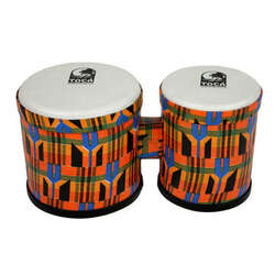 "Toca 5 & 6"" Freestyle Series Synthetic Bongos Kente Cloth"