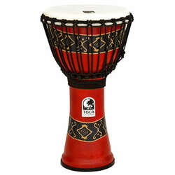Toca 10-Inch Freestyle 2 Bali Red Djembe