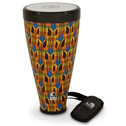 "Toca 9-1/2"" Flex Drum Junior With Strap In Kente Cloth TFLEXJRK"
