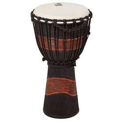 Toca 10-Inch Street Series Djembe Black & Brown Hand Drum