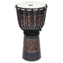Toca 10-Inch Street Carved Wooden Onyx Djembe