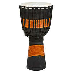 Toca 10-Inch Street Carved Series Wooden Black/Brown Djembe