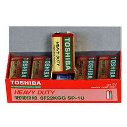 Toshiba 9V Heavy Duty Alkaline Battery - 10 Pack