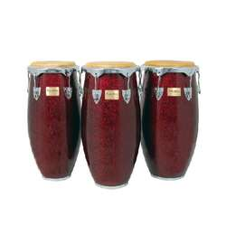 Tycoon Concert Congas Set of 3 Red Pearl