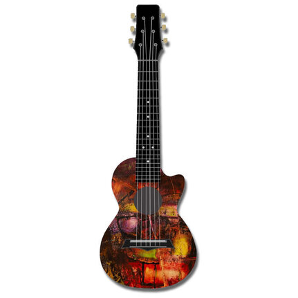 Kealoha Guitalele In Technicolour Paint Design