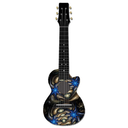 Kealoha Guitalele In Electric Blue Stars Design