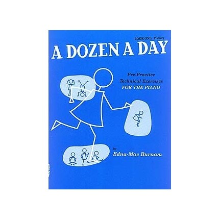 A Dozen a Day Book 1 Primary for Piano (Blue) BK