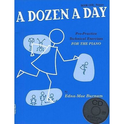 A Dozen A Day Book 1 Primary for Piano (Blue) BK/CD