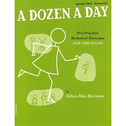 A Dozen A Day Book 2 Elementary for Piano (Green) BK/CD