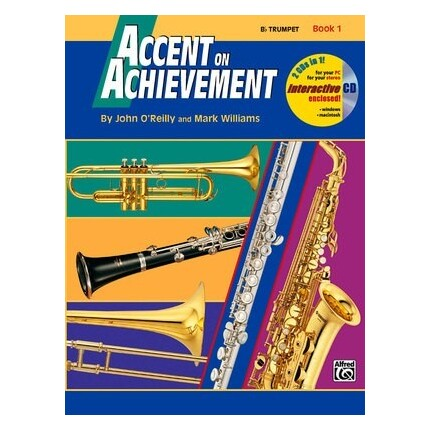 Accent On Achievement Trumpet Book 1 Bk/CD