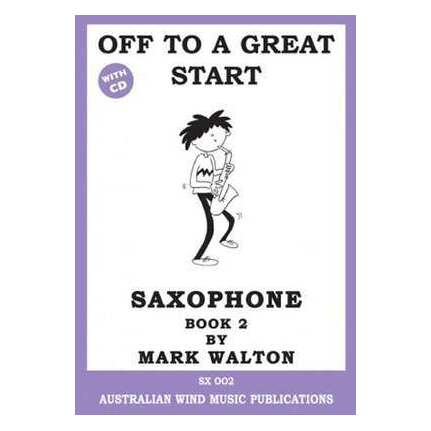 Off to a Great Start Alto Sax Book 2 Bk/CD