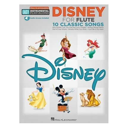 Disney For Flute Easy Play-Along Bk/Online Audio