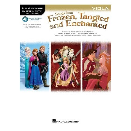 Songs From Frozen, Tangled and Enchanted Viola Bk/Online Audio