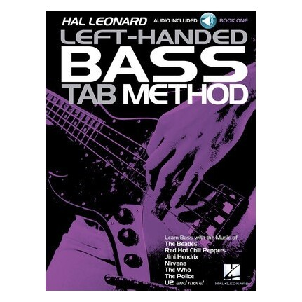Hal Leonard Left-Handed Bass Tab Method Book 1 Bk/Online Audio