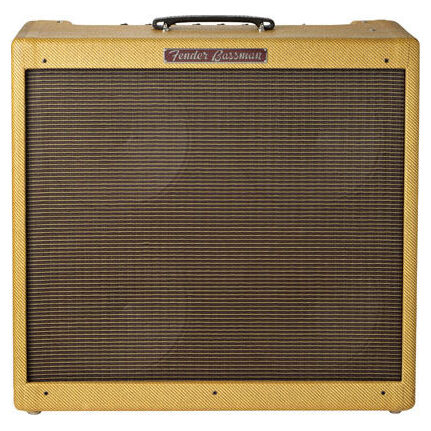 Fender 59 Bassman 45-Watt Tube Amp Lacquered Tweed 4 X 10-Inch Jensen Speakers