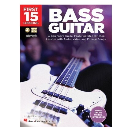 First 15 Lessons Bass Guitar Bk/Online Media
