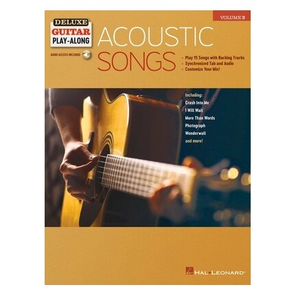 Acoustic Songs Deluxe Guitar Play-Along Vol 3 Bk/Online Audio