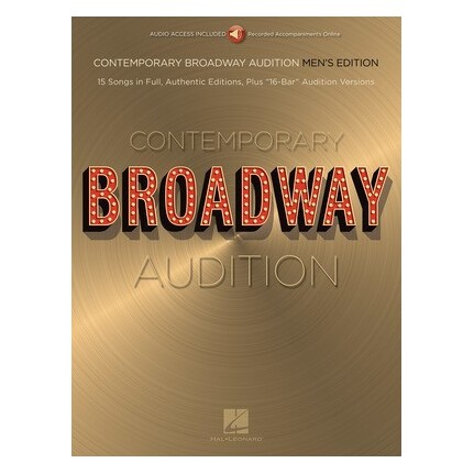 Contemporary Broadway Audition Men Bk/Online Audio