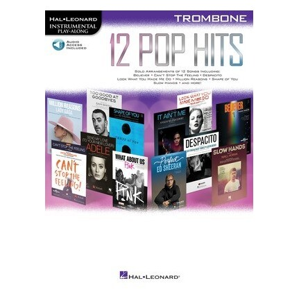 12 Pop Hits Trombone Bk/Online Audio