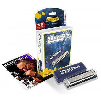 Hohner 504Bb Enthusiast Series Silverstar Harmonica In The Key Of Bb