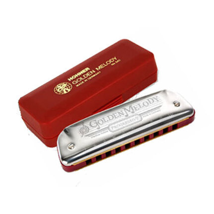 Hohner 542C Progressive Series Golden Melody Harmonica In The Key Of C