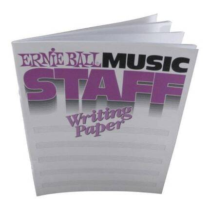 Ernie Ball 7019 Music Staff Writing Paper