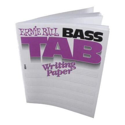 Ernie Ball 7022 Bass Guitar Tab Writing Paper Book