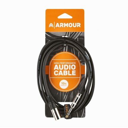 Armour CJPM10 HP Male XLR/Jack (TRS) 10ft Cable