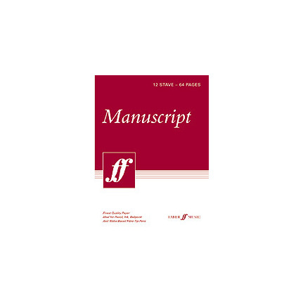 Faber Music Manuscript 12 Stave Tear Off Pad