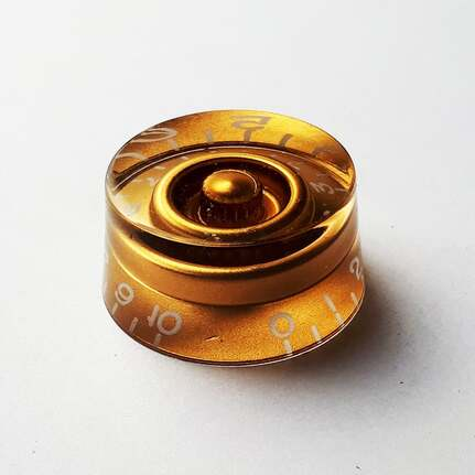 GT Acrylic Speed Knobs In Gold (Pk-2)