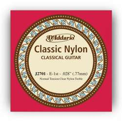 D'Addario J2701 Student Nylon Classical Guitar Single String, Normal Tension, First String