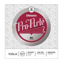 D'Addario Pro-Arte Viola String Set, Short Scale, Medium Tension