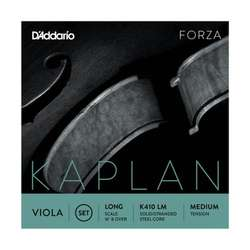 D'Addario Kaplan Viola String Set, Long Scale, Medium Tension